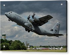 Acrylic Print featuring the photograph Usaf Lockheed-martin C-130j-30 Hercules  by Tim Beach