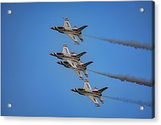 Acrylic Print featuring the photograph Usaf Thunderbirds by Rick Berk