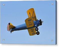 U.s.army Biplane Acrylic Print by David Lee Thompson