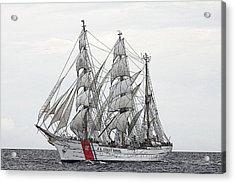Uscg Barque Eagle Acrylic Print by Max Mudie