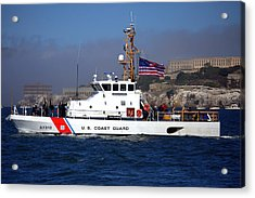 Acrylic Print featuring the photograph Uscg Hawksbill Patrols San Francisco Bay During Fleet Week by John King