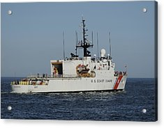 Uscgc Escanaba Heads To Sea Acrylic Print