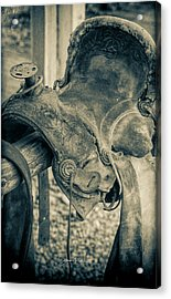 Used Saddle Acrylic Print