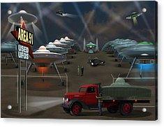 Area 51 Used U F O S Acrylic Print by Mike McGlothlen