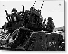 Usmc On The Move In A Lav-25 Acrylic Print