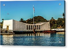 Uss Arizona Memorial Acrylic Print by Jon Burch Photography