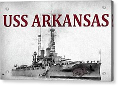 Uss Arkansas Acrylic Print