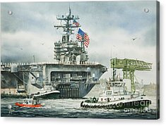 Uss Carl Vinson Acrylic Print by James Williamson