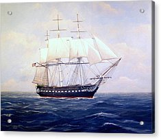Uss Constitution Acrylic Print by William H RaVell III