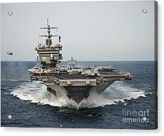 Uss Enterprise Transits The Atlantic Acrylic Print by Stocktrek Images