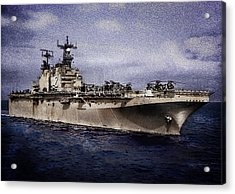 Uss Iwo Jima Lph2 Acrylic Print