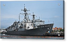 Uss James E. Williams Ddg-95 Acrylic Print by Christopher Holmes