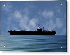 Uss Kitty Hawk 1955 V1 Acrylic Print