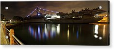 Acrylic Print featuring the photograph Uss Midway At Night by Nathan Rupert