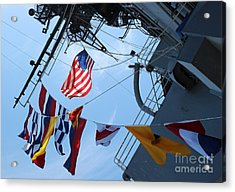 Uss Midway Flag Acrylic Print