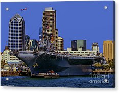 Uss Midway San Diego Ca Acrylic Print by Tommy Anderson