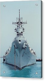 Uss Missouri At Anchor Acrylic Print