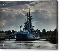 U.s.s. North Carolina 001 Acrylic Print