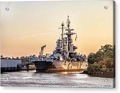 Uss North Carolina Sunset Acrylic Print