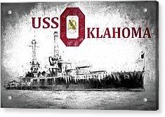 Uss Oklahoma Acrylic Print by JC Findley