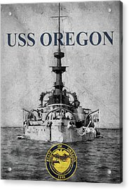 Uss Oregon Acrylic Print by JC Findley