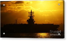 Uss Ronald Reagan Acrylic Print by Linda Shafer