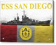 Uss San Diego Acrylic Print by JC Findley