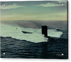 Uss Topeka Acrylic Print by William H RaVell III