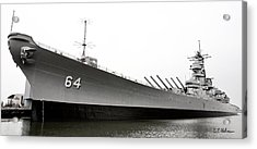 Uss Wisconsin - Port-side Acrylic Print by Christopher Holmes