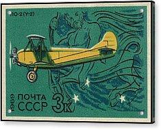 Ussr Airplane Polikarpov Po 2  Acrylic Print