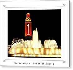 Ut Tower Poster Acrylic Print by Marilyn Hunt