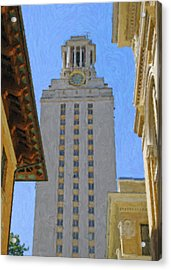 Ut University Of Texas Tower Austin Texas Acrylic Print by Jeff Steed