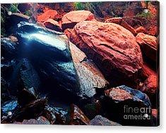 Utah - Emerald Pool Boulders Acrylic Print