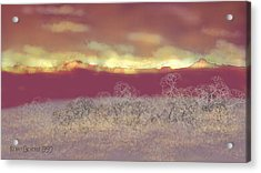 Acrylic Print featuring the digital art Utah by Kerry Beverly