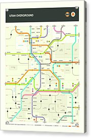 Utah Map Acrylic Print