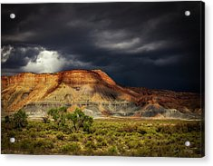 Utah Mountain With Storm Clouds Acrylic Print by John A Rodriguez