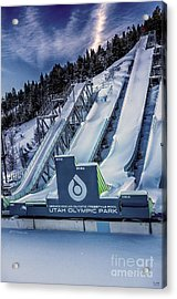 Utah Olympic Park Acrylic Print by David Millenheft