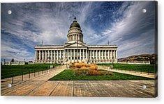 Utah State Capitol Acrylic Print by James Hammond