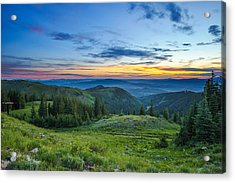 Utah Sunrise Above Park City Acrylic Print
