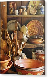 Utensils - Remembering Momma Acrylic Print by Mike Savad
