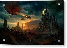 Utherworlds Sosheskaz Falls Acrylic Print by Philip Straub
