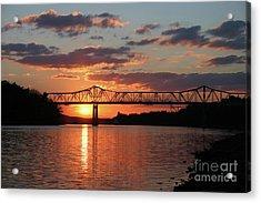 Utica Bridge At Sunset Acrylic Print