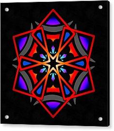 Acrylic Print featuring the digital art Utron Star by Derek Gedney
