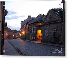 Uzupis Street. Old Vilnius. Lithuania. Acrylic Print by Ausra Huntington nee Paulauskaite