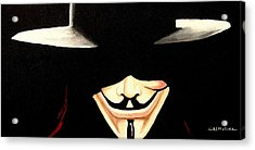 V For Vendetta Acrylic Print