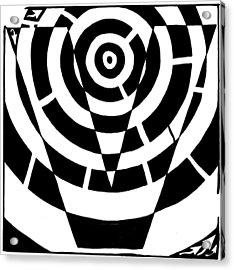 V Maze Acrylic Print by Yonatan Frimer Maze Artist
