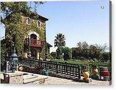 V Sattui Winery Building Napa Valley California Acrylic Print by George Oze