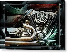 V Twin Acrylic Print by WB Johnston