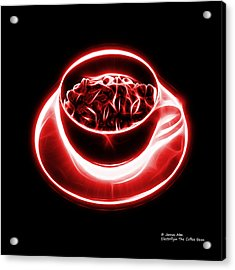 V2-bb-electrifyin The Coffee Bean-red Acrylic Print