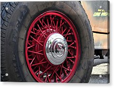 V8 Wheels Acrylic Print by David Lee Thompson
